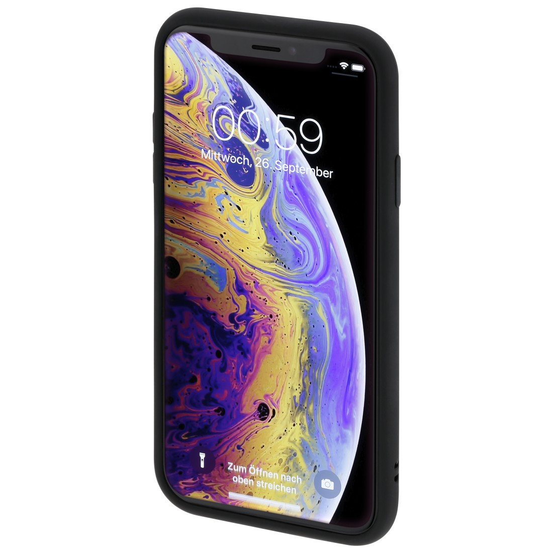 "abx3 High-Res Image 3 - Hama, Coque de protection ""Invisible"" pour Apple iPhone X/Xs, noire"