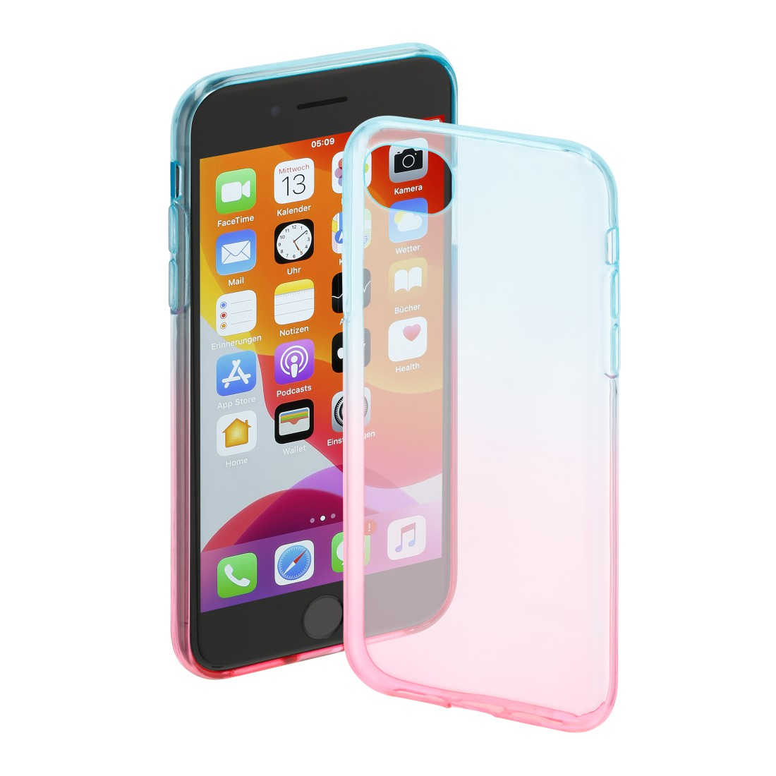 "abx High-Res Image - Hama, Coque de protection ""Shade"" pr Apple iPhone 6/6s/7/SE 2020, bleue/rose"
