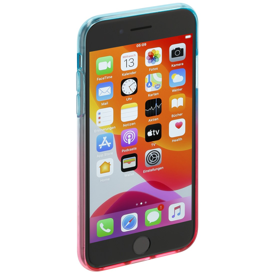 "abx3 High-Res Image 3 - Hama, Coque de protection ""Shade"" pr Apple iPhone 6/6s/7/SE 2020, bleue/rose"