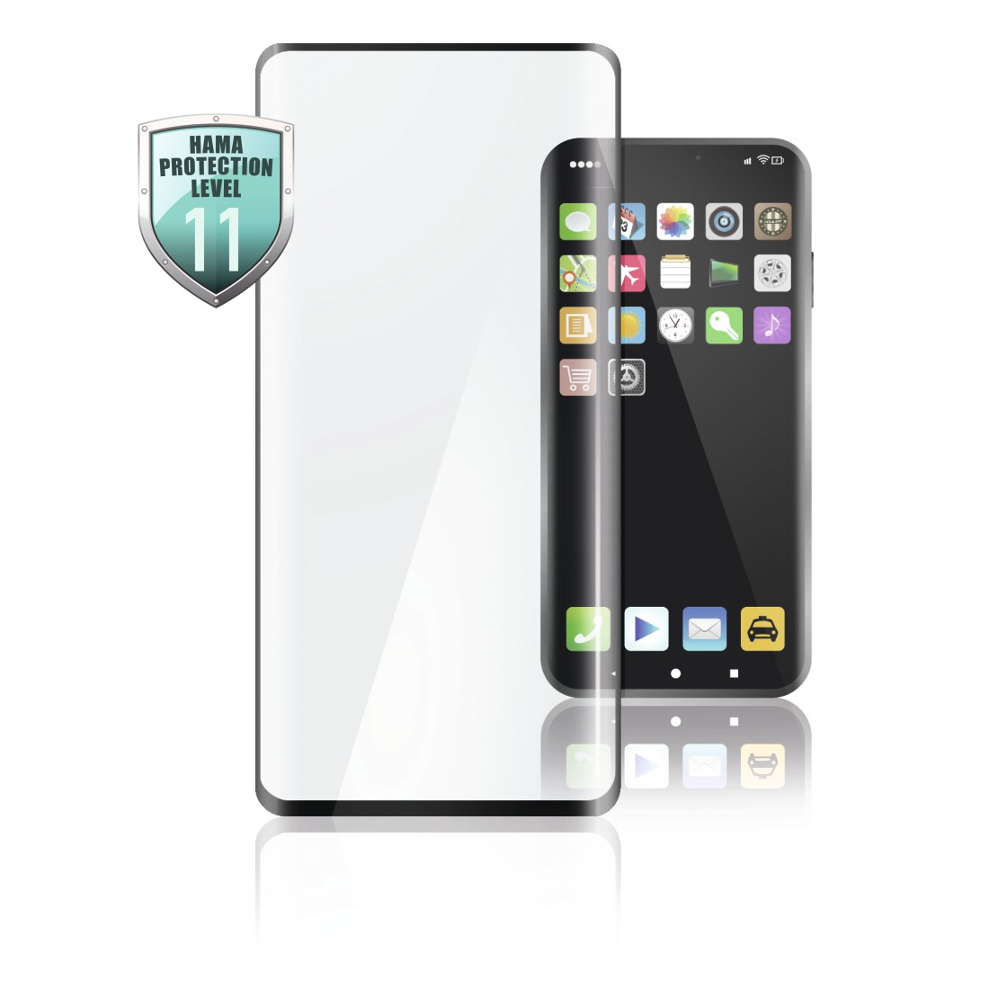 abx High-Res Image - Hama, Verre de protection Full-Screen 3D pour Oppo Reno 2, noir