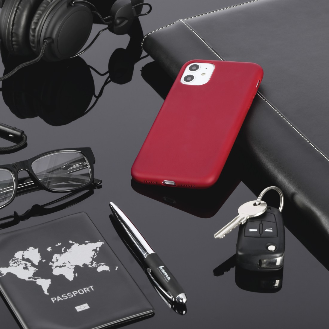 "awx High-Res Appliance - Hama, Coque de protection ""Finest Feel"" pour Apple iPhone X/Xs, rouge"