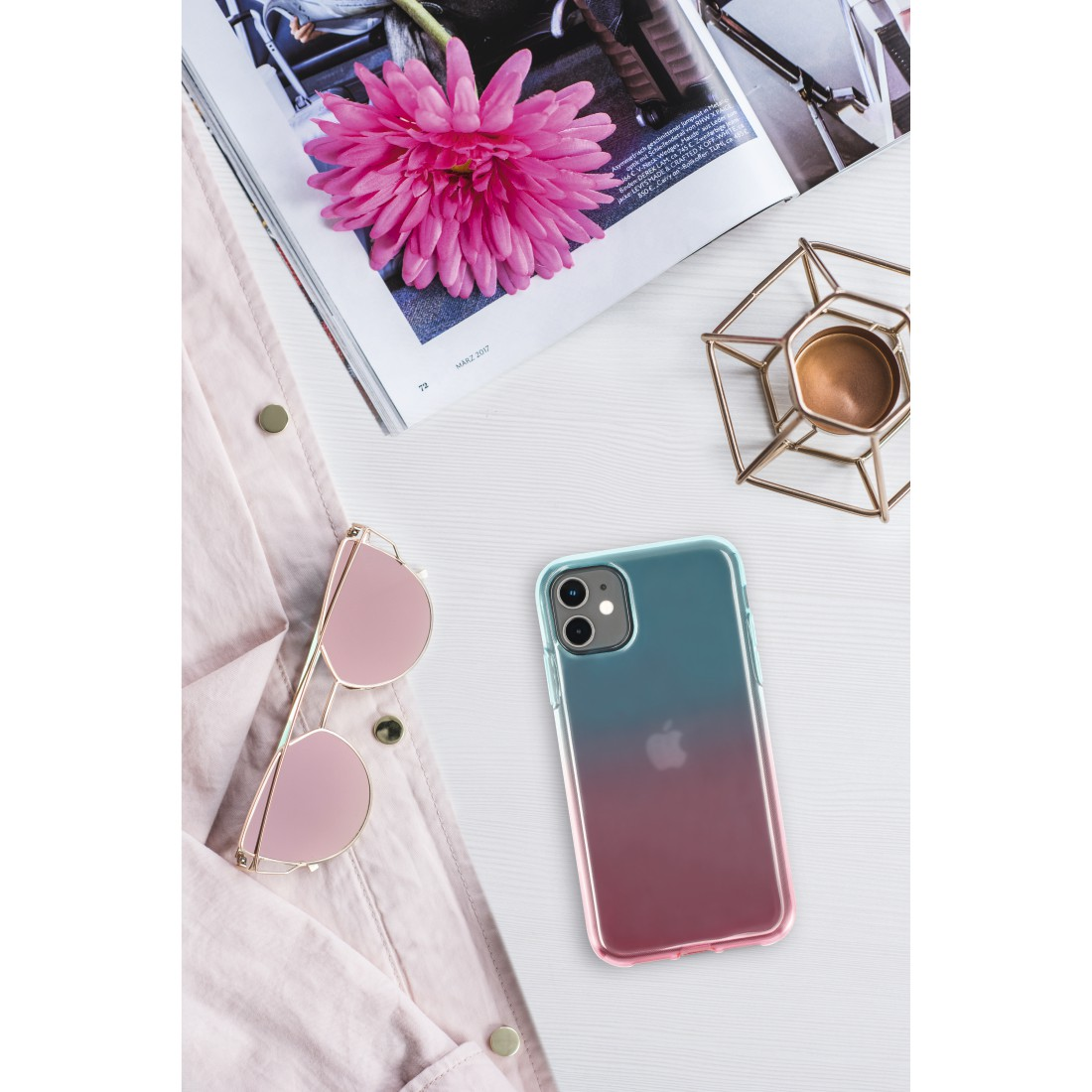 "awx High-Res Appliance - Hama, Coque de protection ""Shade"" pr Apple iPhone 6/6s/7/SE 2020, bleue/rose"