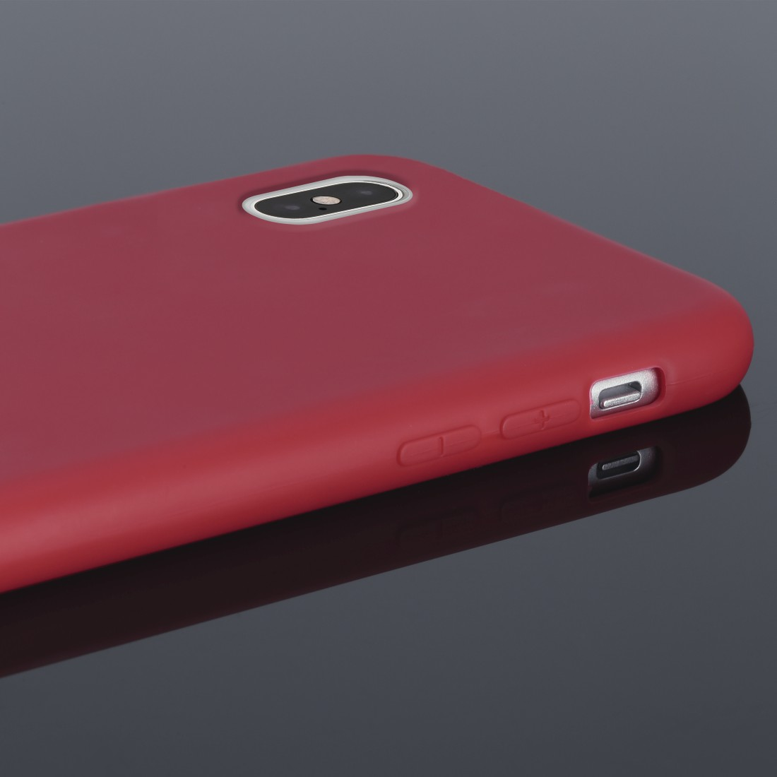 "dex High-Res Detail - Hama, Coque de protection ""Finest Feel"" pour Apple iPhone X/Xs, rouge"