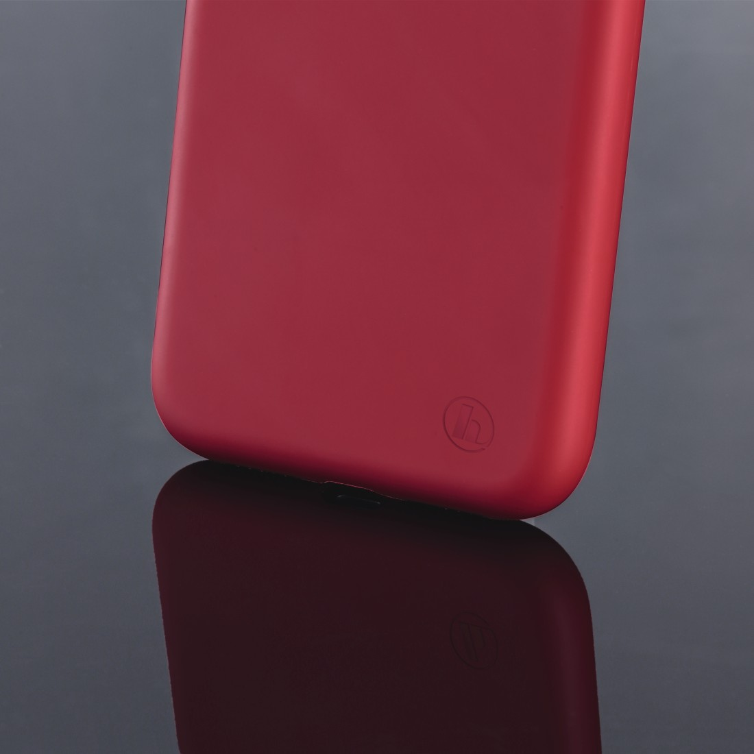 "dex3 High-Res Detail 3 - Hama, Coque de protection ""Finest Feel"" pour Apple iPhone X/Xs, rouge"