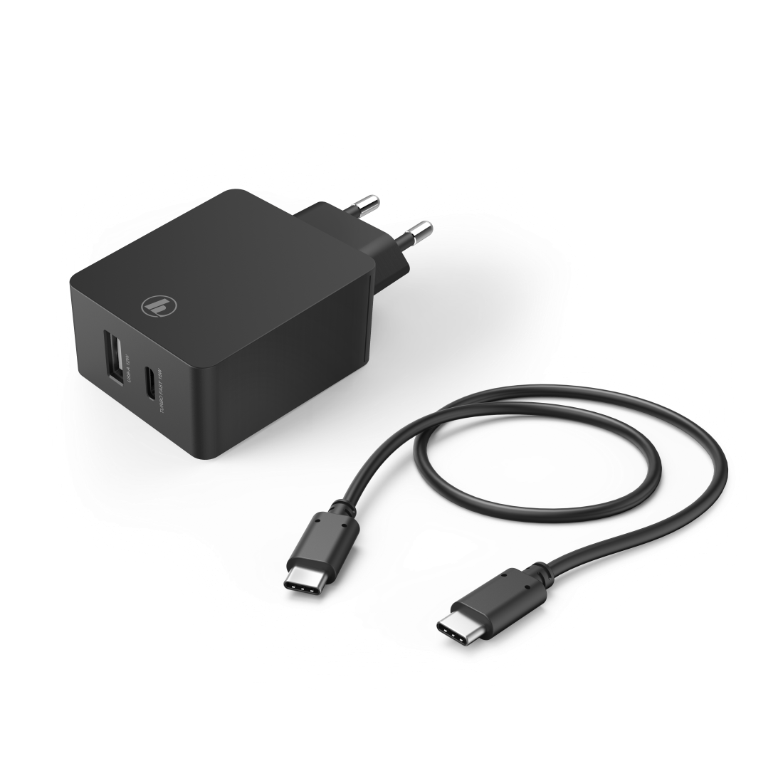 abx2 High-Res Image 2 - Hama, Kit charge secteur, USB-C, USB-A, PD/Qualcomm®,30W, cble USB-C, 1m, nr